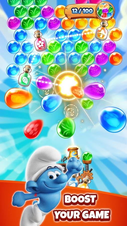 smurfs bubble apk mod