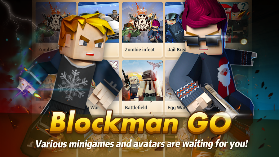 Download Blockman GO : Blocky Mods v1.6.1 free on android