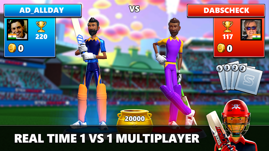 Download Stick Cricket Live (MOD, Unlimited Money) v1 0 8